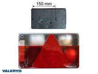 Baklampa Ajba Hö 140x235x50 med dimljus, kabelgenomföring på baksidan,