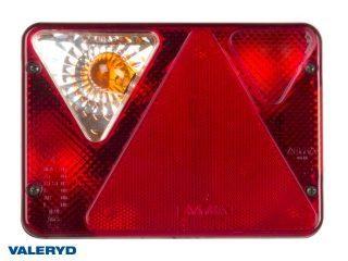 Baklampa Ajba Vä 119x135x50 med skyltbelysning, dimljus och backljus Bajonettanslutning