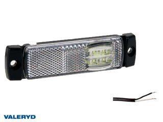 LED Positionsljus Valeryd 130x32x14,5 vit 12-30V med reflex inkl. 450 mm kabel