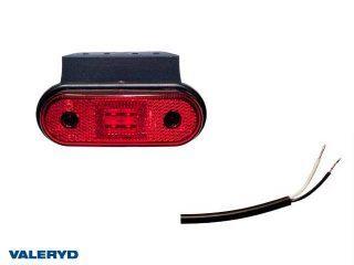 LED Positionsljus Valeryd 120x67x18 röd 12-30V med reflex inkl.450 mm kabel