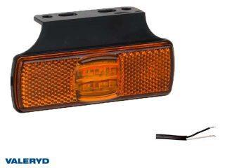 LED Sidomarkeringslykta Valeryd 100x50x14,5 gul 12-30V med reflex inkl. 450 mm kabel