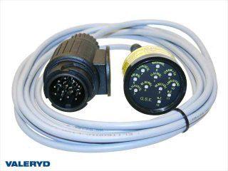 Testare för släpkontakt 13-pol, diod (Fungerar Ej med Canbus system), 4m kabel