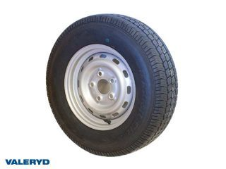 Hjul 175/80R13 Fälg 5x13 Bultcirkel 5x112 Centrumhål 56,6mm Offset +30 Silver Max 580 kg