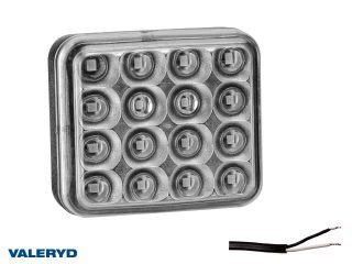 LED Dimljus 78x68x40 röd med 45mm Kabel